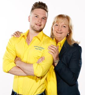 Elke Deppe-Stark mit Sohn Philipp Deppe