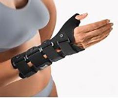 Handgelenkorthese mit Daumeneinschluss stabilisierend