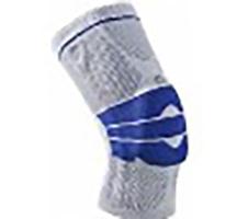Kniebandage mit Patellasilikonringpelotte und seitlichen Spiralfedern