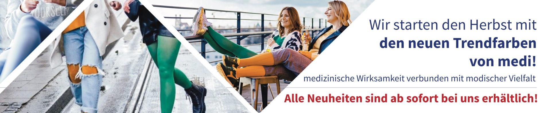 Neue Trendfarben von medi bei Sanitätshaus Deppe in Northeim